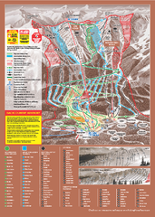 Kicking Horse Ski Trail Map 2009-10