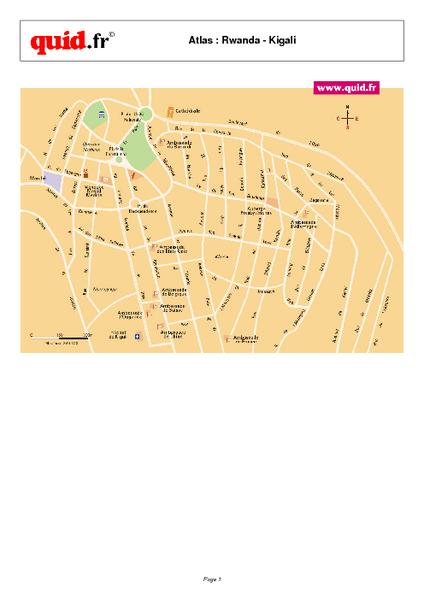 Kigali City Map Kigali Rwanda mappery