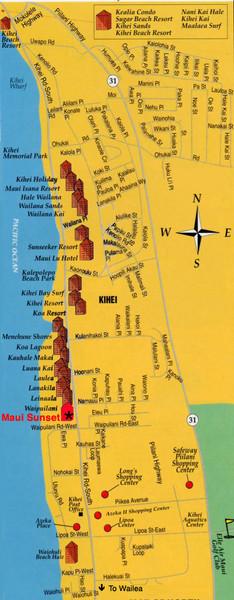 Kihei Resort Map