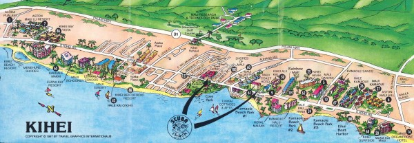 Kihei Tourist Map Kihei HI mappery – Tourist Map Of Maui