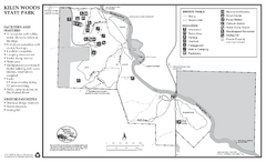 Kilen Woods State Park Winter Map