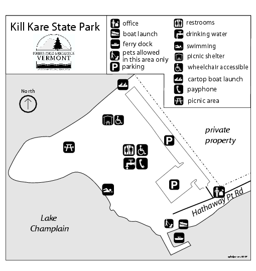 Kill Kare State Park map