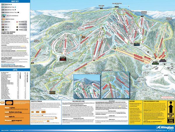 Killington Ski Trail Map
