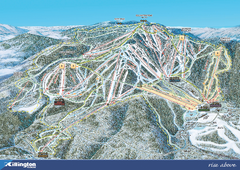 Killington Ski Trail Map 2008