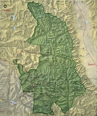King Canyon and Seqouia Nationa Parks Map