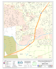 King City Oregon Road Map