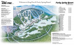 King Pine Ski trail Map