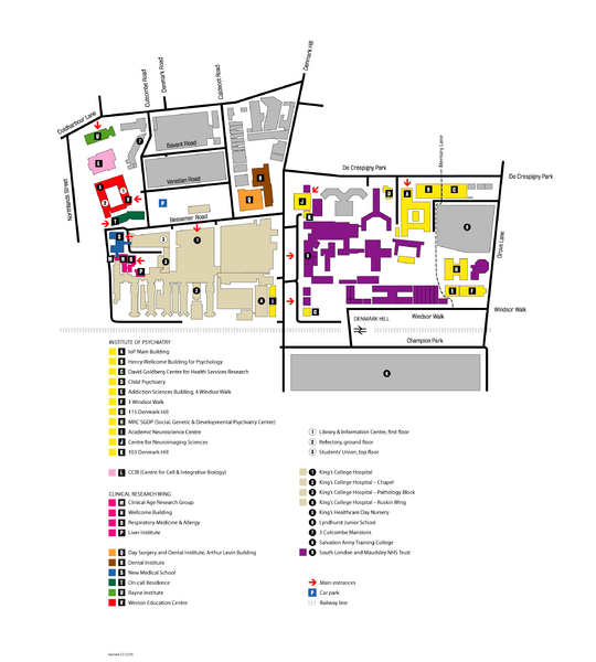 King's College in London Campus Map