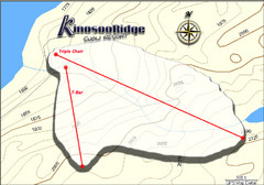 Kinosoo Ridge Topo Ski Trail Map