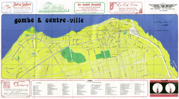 Kinshasa Gombe and Centreville Tourist Map