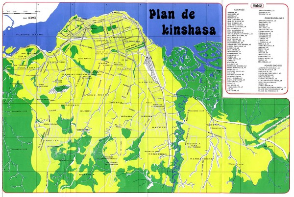 Kinshasa Overview Map