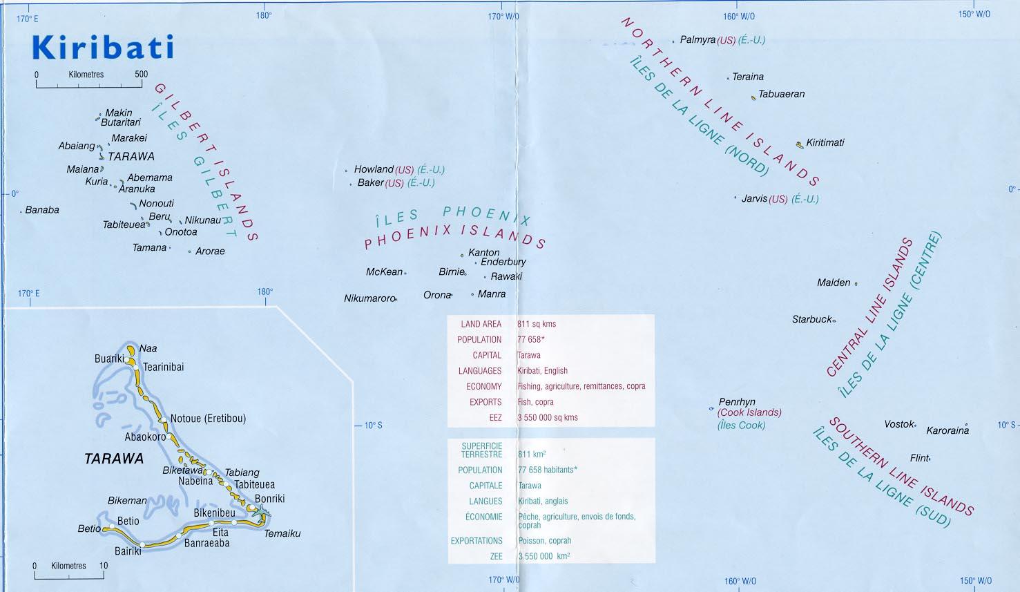 Christmas Island Kiribati Map