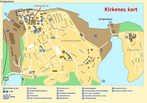 Kirkenes City Map