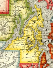 Kitsap County Washington, 1909 Map