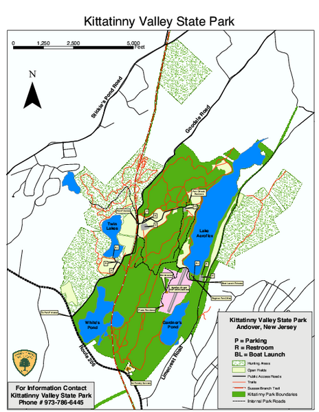 Kittatinny Valley State Park trail map