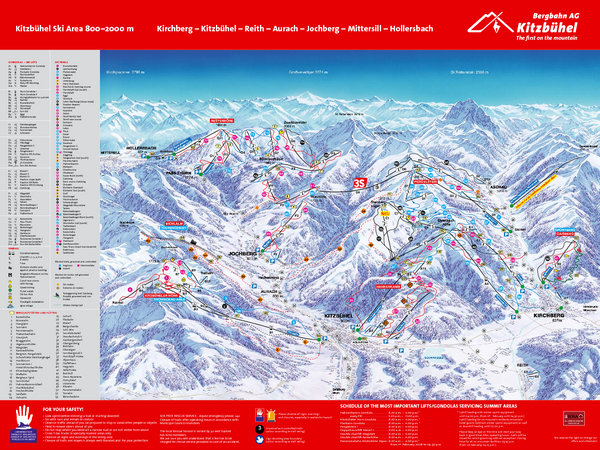 Kitzbuhel Ski Trail Map