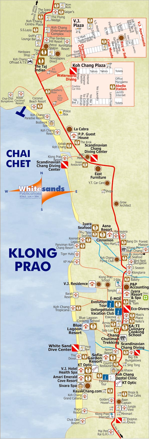 Top Koh Chang Tourist Attractions Map Photos - Printable Map - New ...