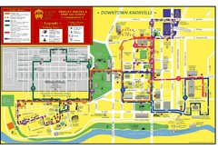 Knoxville, TN Tourist Map