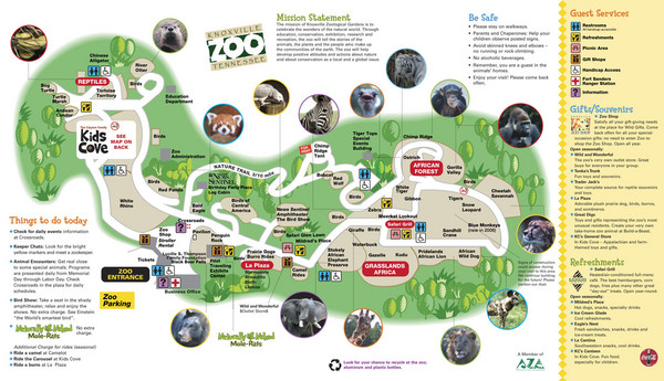 Knoxville Zoo Map Knoxville Zoo Knoxwille TN mappery
