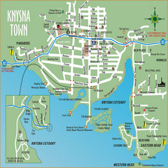 Knysna Town Map
