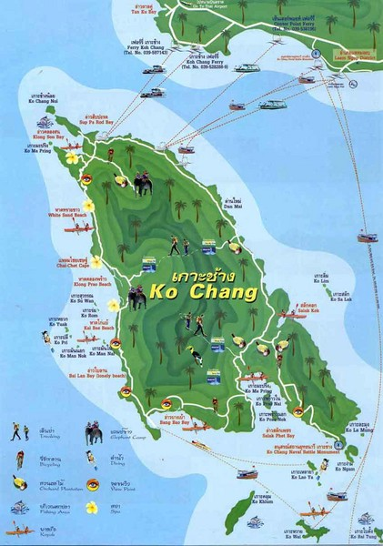 Ko Chang Tourist Map Koh Chang mappery
