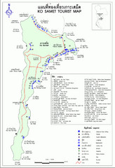 Ko Samet Tourist Map
