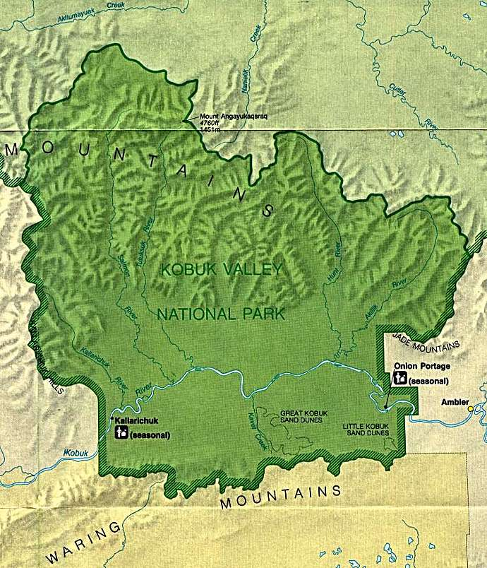 Kobuk Valley National Park Map Kobuk Valley National Park mappery
