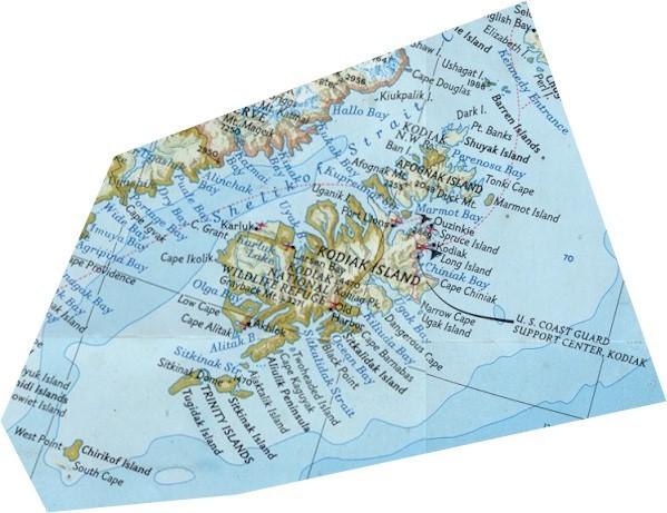 Kodiak Island Alaska Map.Kodiak Island And Alaska Peninsula Map Kodiak Island Alaska Mappery