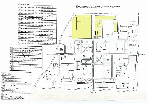 Koganei Campus Map