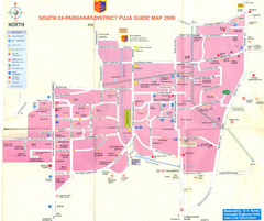 Kolkata Durgapuja Guide Map 2007