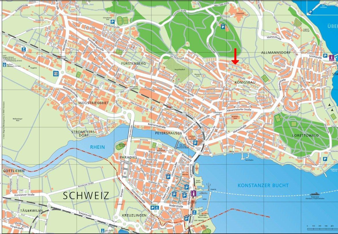 konstanz city map konstanz germany mappery