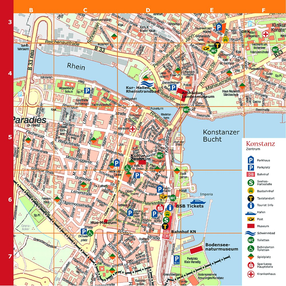 Konstanz Tourist Map Konstanz Germany mappery – Munich City Map Tourist