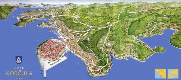 Korcula Tourist Map