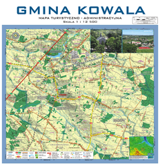 Kowala  Commune - near Radom, PL Map