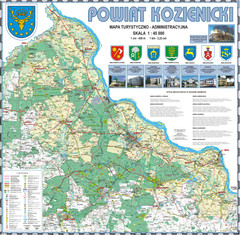 Kozienice_County_wall_map Map