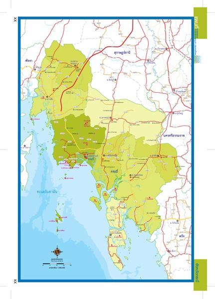Krabi thailand map