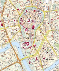 Krakow Tourist Map
