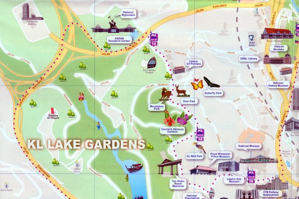 Kuala Lumpur Lake Gardens Map Kuala Lumpur Malaysia Mappery - kuala lumpur map