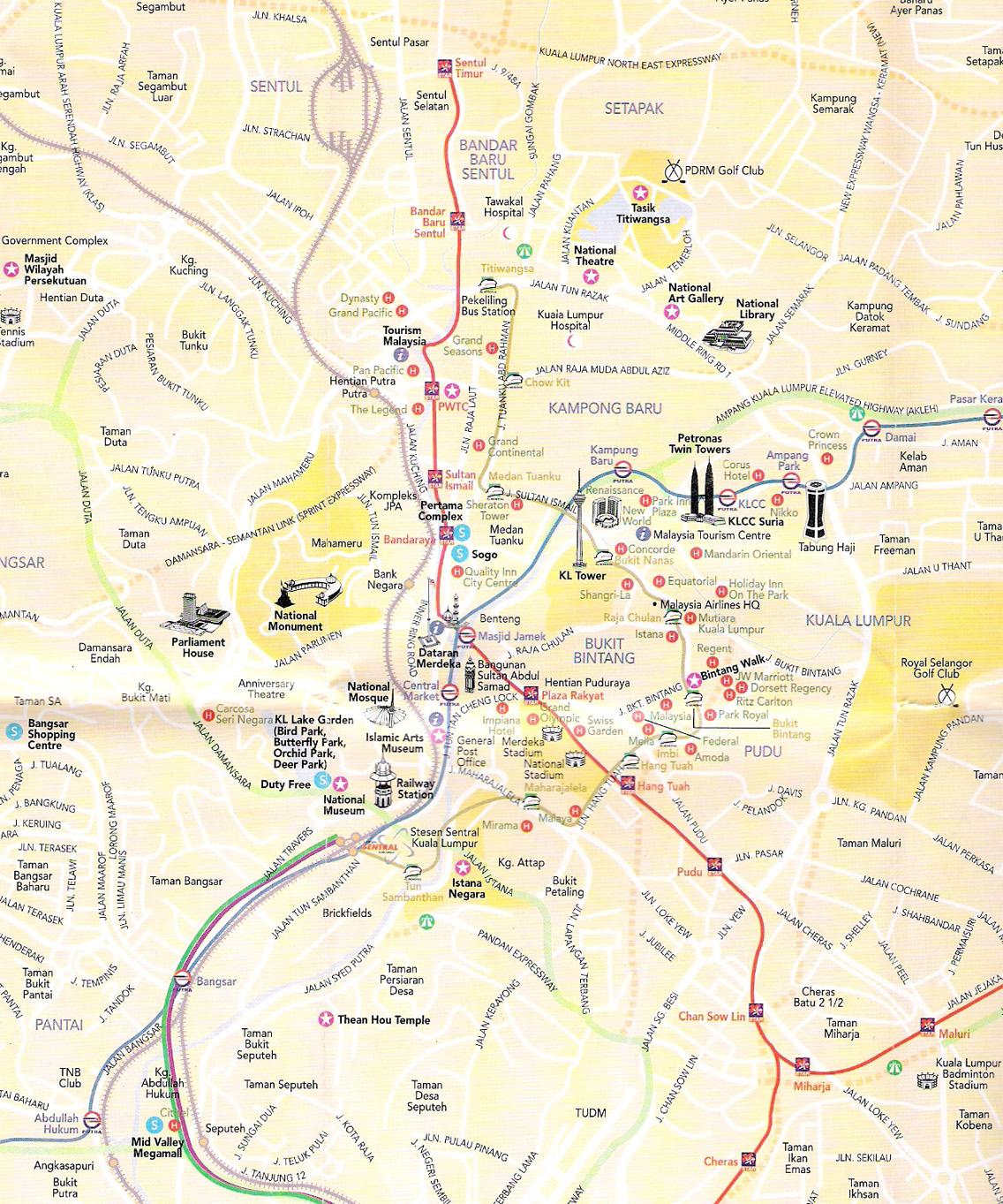 Kuala Lumpur Malaysia Map: Kuala Lumpur City Malaysia