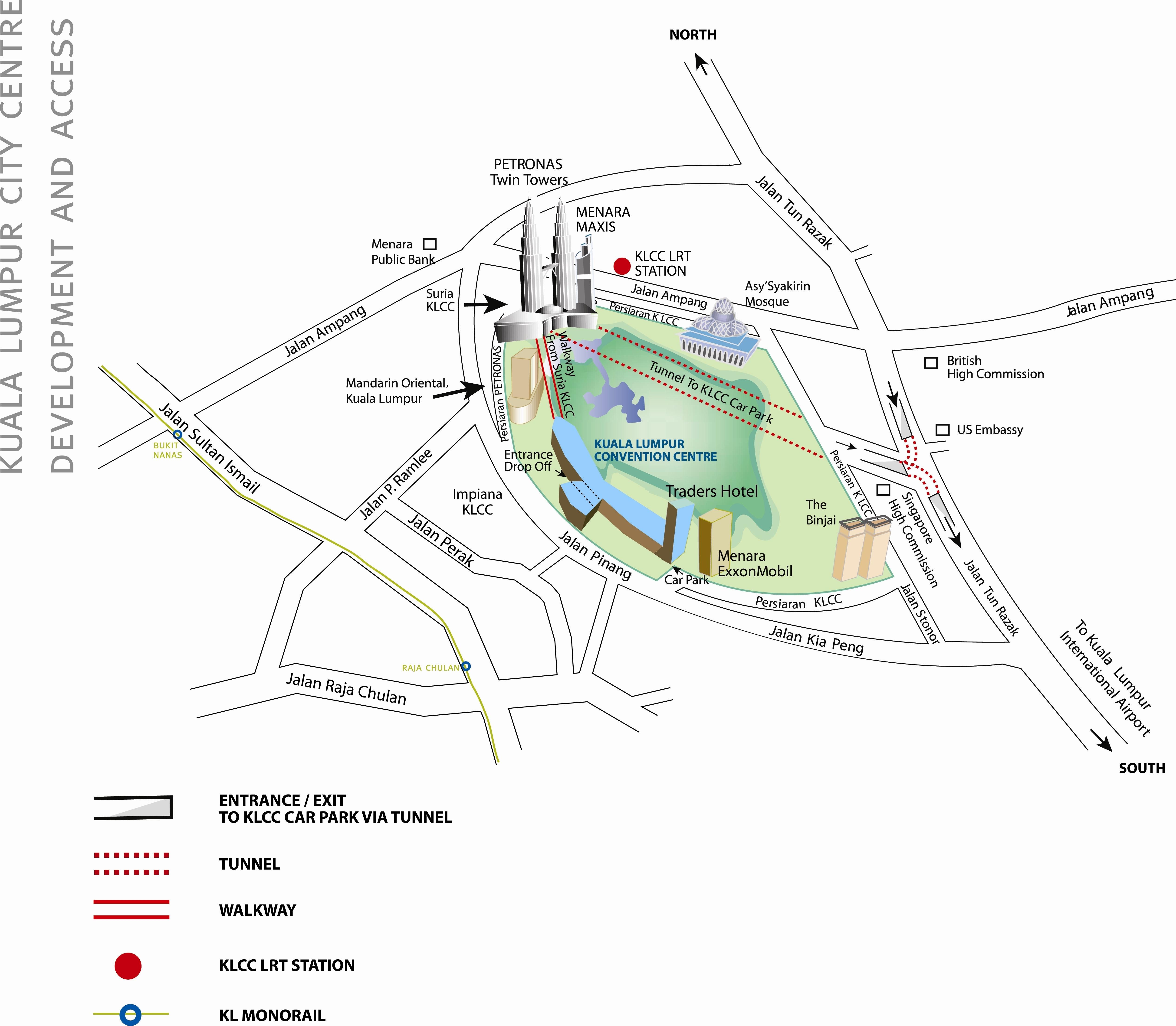 Kuala Lumpur Tourist Map Kuala Lumpur mappery