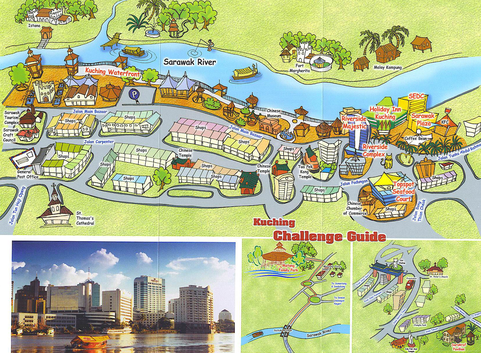 """tourism in kuching Kuching, the """"cat city"""", is a heaven for tourist it is one of the main tourist  destination in sarawak join this bike tour around the heritage building and  temples,."""