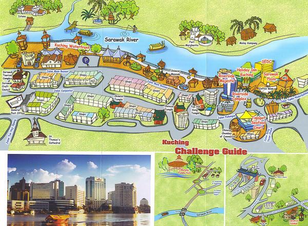 Kuching Tourist Map Kuching Sarawak Malaysia Mappery - Kuching map