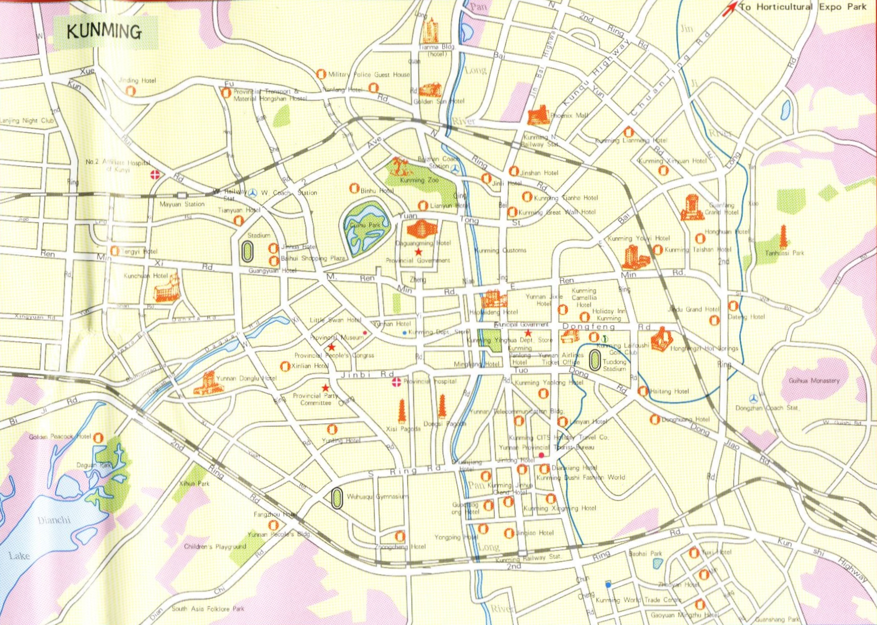 Kunming City Map Kunming China Mappery