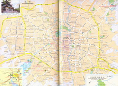 Kunming City,Yunnan, China Map