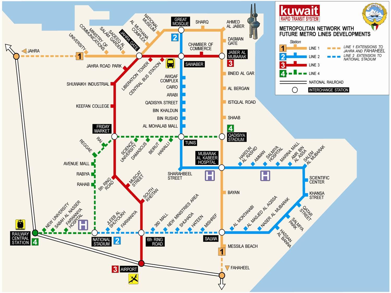 Kuwait City Metro Map mappery