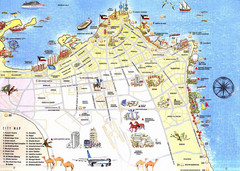 Kuwait City Tourist Map