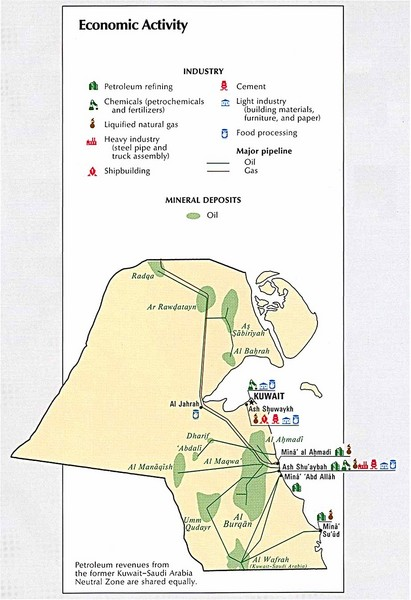 Kuwait Economic Activity Map