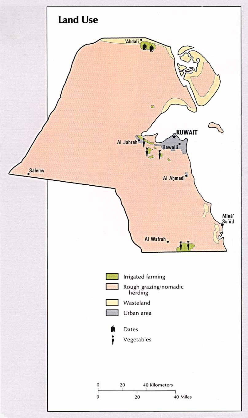 Kuwait Land Use Map Kuwait mappery
