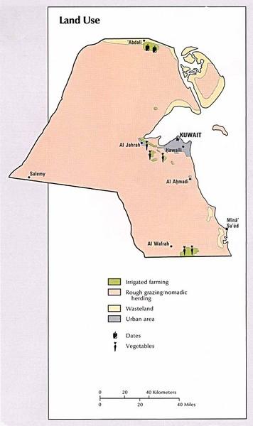 map of kuwait. Map of Kuwait#39;s land use