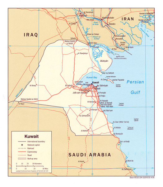 map of kuwait. Overview map of Kuwait
